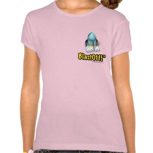 ¡La mamá hizo el BlastOff! El camisetas del chica
