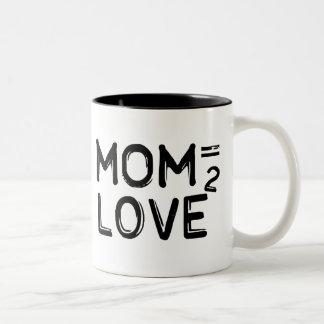 La mamá iguala la taza ajustada amor del Dos-Tono