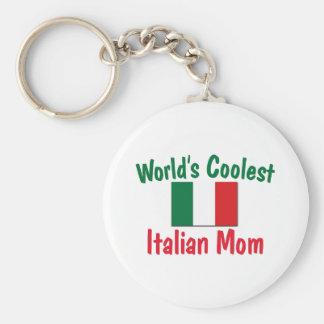 La mamá italiana más fresca llavero redondo tipo pin