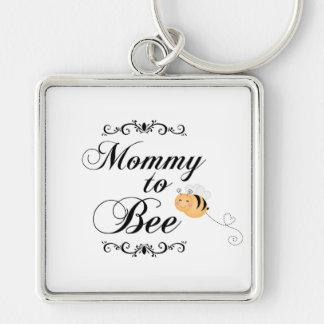 La mamá linda a la abeja remolina llavero cuadrado