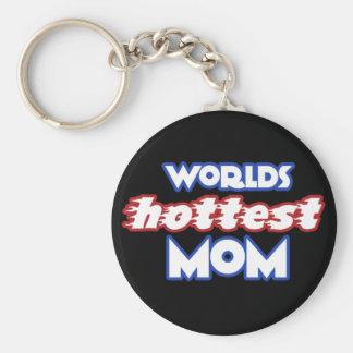 La mamá más caliente de los mundos llaveros personalizados