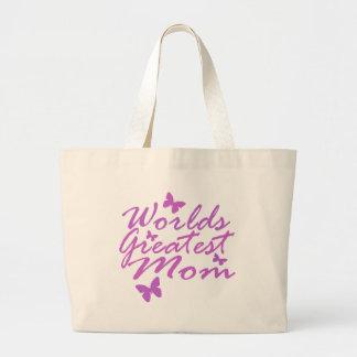 La mamá más grande de los mundos bolsa tela grande