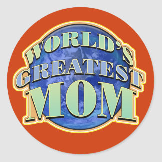 La mamá más grande de los mundos pegatinas redondas