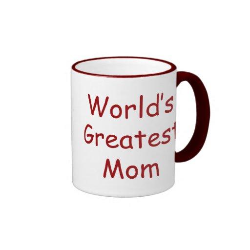 La mamá más grande de los mundos taza a dos colores