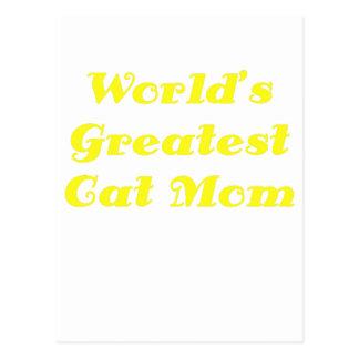 La mamá más grande del gato de los mundos tarjetas postales