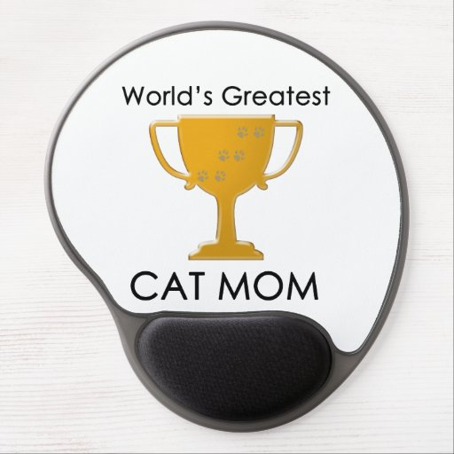 La mamá más grande del gato del mundo alfombrilla de raton con gel