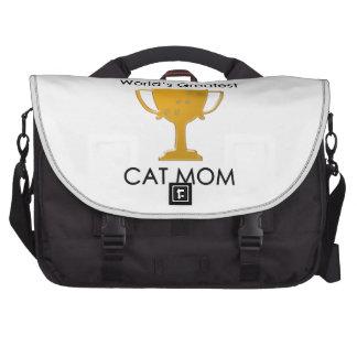 La mamá más grande del gato del mundo bolsas de portatil