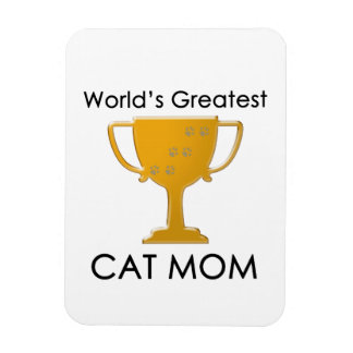 La mamá más grande del gato del mundo imán flexible