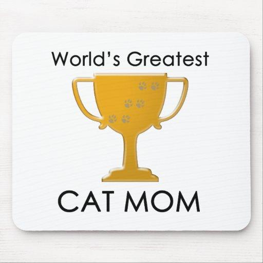 La mamá más grande del gato del mundo alfombrilla de raton