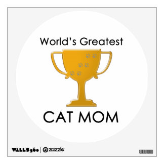 La mamá más grande del gato del mundo vinilo adhesivo