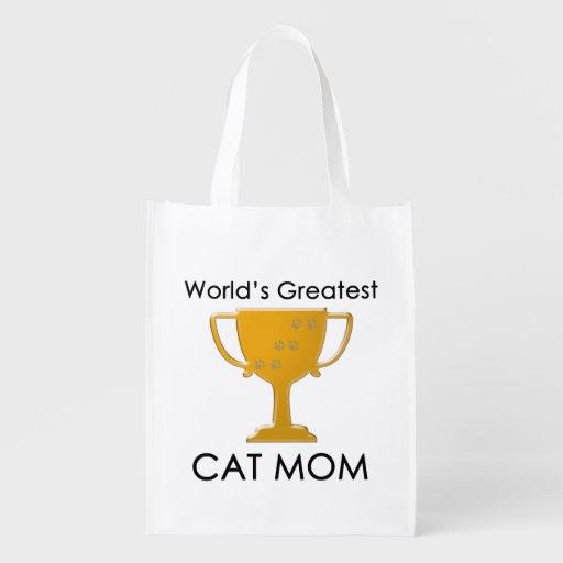 La mamá más grande del gato del mundo bolsa para la compra