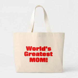 La mamá más grande del mundo bolsa tela grande