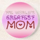 La mamá más grande del mundo (el día y el cumpleañ posavasos diseño