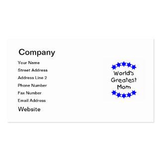 La mamá más grande del mundo (estrellas azules) tarjetas de visita