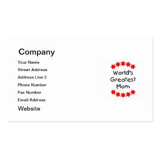 La mamá más grande del mundo (estrellas del rojo) tarjetas de visita