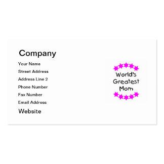La mamá más grande del mundo (estrellas del rosa) tarjetas de visita