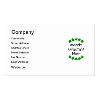 La mamá más grande del mundo (estrellas del verde) tarjetas de visita