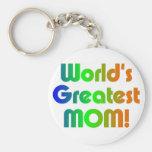 La mamá más grande del mundo llaveros personalizados