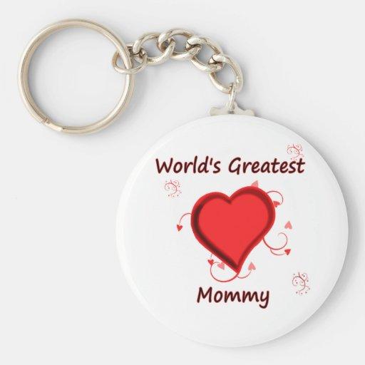 La mamá más grande del mundo llavero personalizado