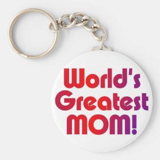 La mamá más grande del mundo llavero redondo tipo pin