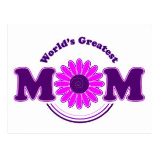 La MAMÁ más grande del mundo (púrpura) Postales