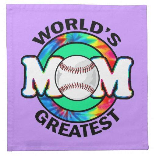 La mamá más grande del mundo; Softball Servilleta De Papel