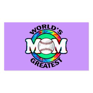 La mamá más grande del mundo; Softball Tarjetas De Visita