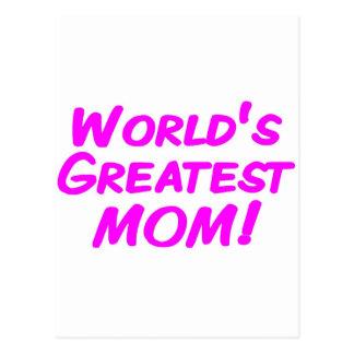 La mamá más grande del mundo tarjetas postales