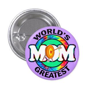 La mamá más grande del mundo; Tiro al arco Pin Redondo De 1 Pulgada