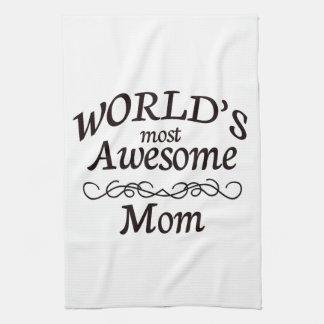 La mamá más impresionante del mundo toalla de cocina