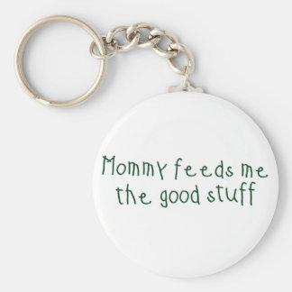 La mamá me alimenta el buen material llaveros personalizados