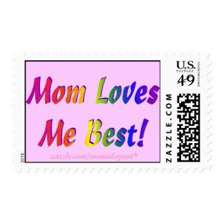 ¡La mamá me ama mejor! Sellos del rosa de arco iri