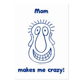La mamá me conduce loco plantilla de tarjeta de negocio