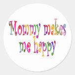 La mamá me hace feliz pegatinas