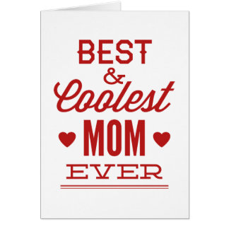 La mamá mejor y más fresca nunca tarjetas
