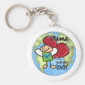 La mamá necesita algún Lovin - tarjeta del día de  Llavero Redondo Tipo Pin