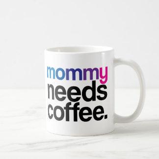 La mamá necesita el café taza básica blanca