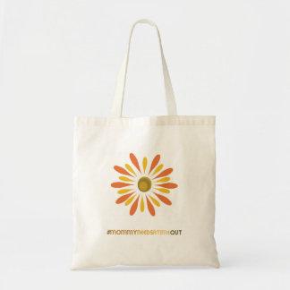 La mamá necesita un bolso del descanso - flor bolsas lienzo