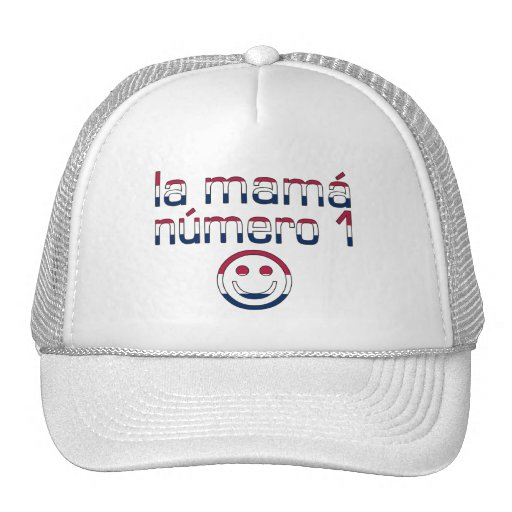 La Mamá Número 1 in American Flag Colors Trucker Hat
