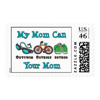 La mamá Outswim sellos superados Outbike del Triat