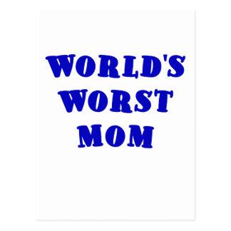 La mamá peor de los mundos tarjeta postal