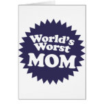 La mamá peor del mundo tarjetas