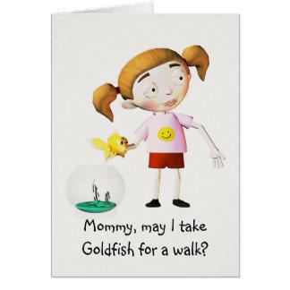 La mamá, puede yo toma… tarjeta de felicitación