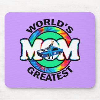 La mamá que compite con más grande del mundo alfombrilla de ratones