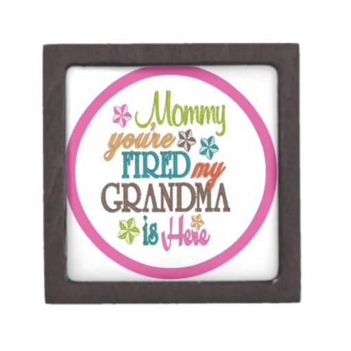 la mamá que usted es abuela encendida está aquí caja de recuerdo de calidad