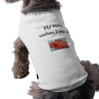 La mamá quiere una camiseta del perro del bebé playera sin mangas para perro