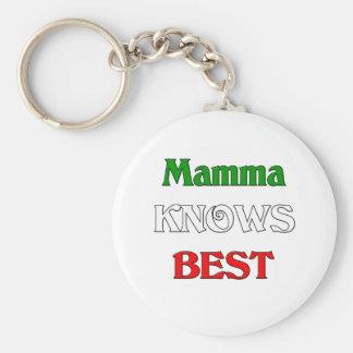 La mama sabe mejor llavero redondo tipo pin
