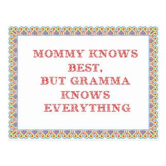 La mamá sabe mejor postal