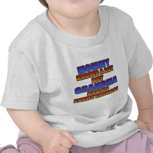 ¡La mamá sabe mucho, pero la abuela sabe todo! Camiseta