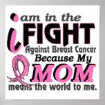 La mamá significa el mundo a mí cáncer de pecho poster